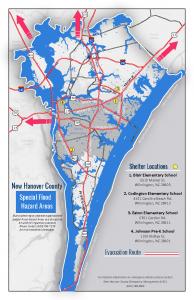 shelter & evacuatioin map